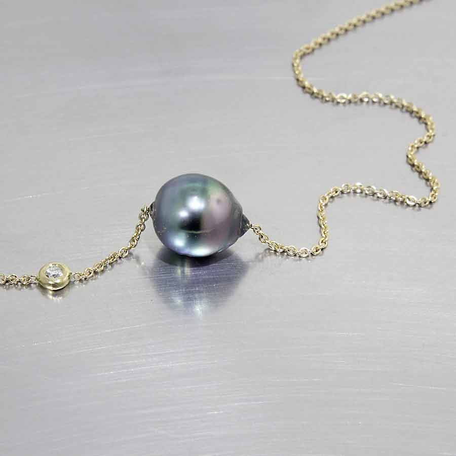 jewelry in lyst diamond pearl necklace white mikimoto gold