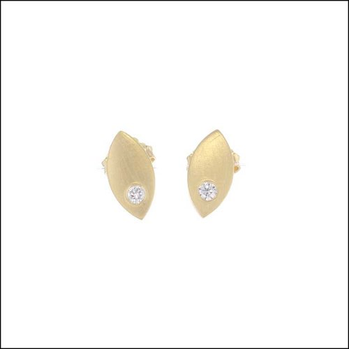Style #22110597 Diamonds in Marquis Shaped 18KY Earrings