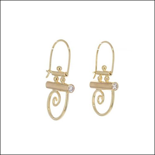 "Style #22110593 18KY Diamond ""Parts"" Earrings"