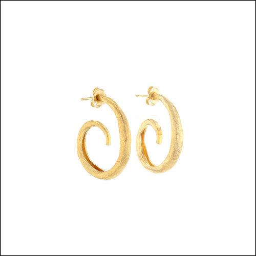 Style #28110466 Textured Spiraling Hoop Earrings, 22KY