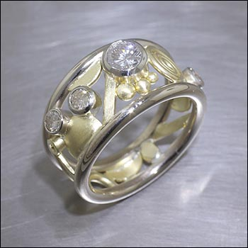 stone with ring alternative rings metal diamonds non engagement wg jewelry fancy pave white in diamond gold nl fascinating