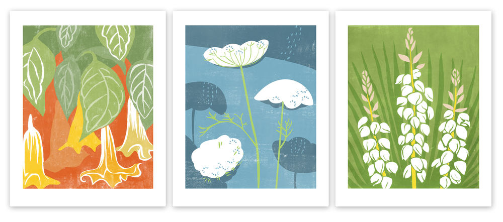 FEATURED PROJECT: Flower block prints