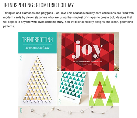 From Papercrave.com: Geometric Holiday Cards (4)
