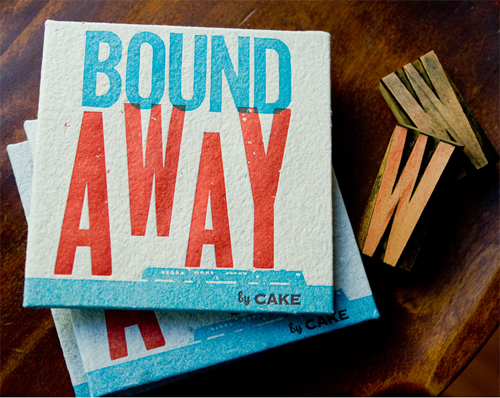 "READ MORE  : Illustration for ""Bound Away"", a handmade lyric book for Cake's #1 Billboard hit plus bonus CD"