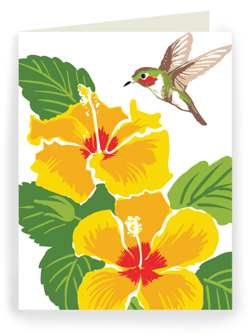 Hibiscus and hummingbird greeting cards rigel stuhmiller hibiscus and hummingbird greeting cards m4hsunfo