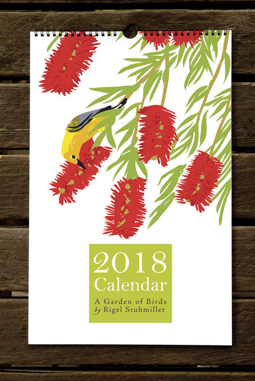 Garden Of Birds Wall Calendar  Rigel Stuhmiller