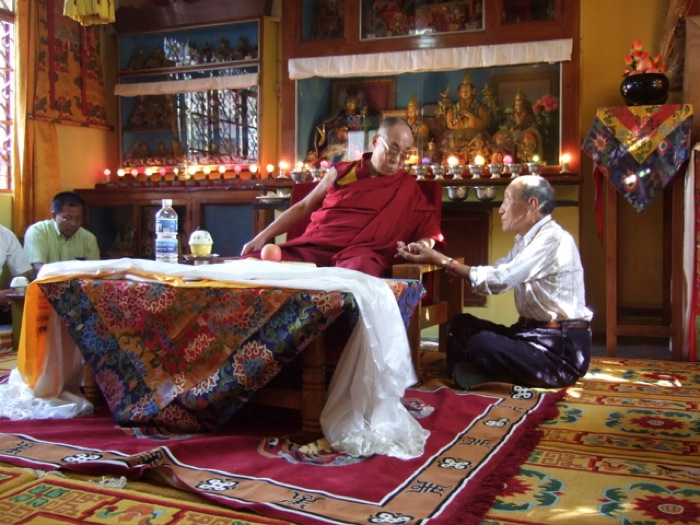 Khyongla Rato Rinpoche with His Holiness the Dalai Lama