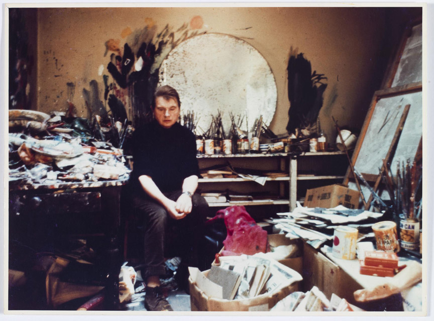 Francis Bacon in his Reece Mews studio, May 1970. Photo by Michael Pergolani.