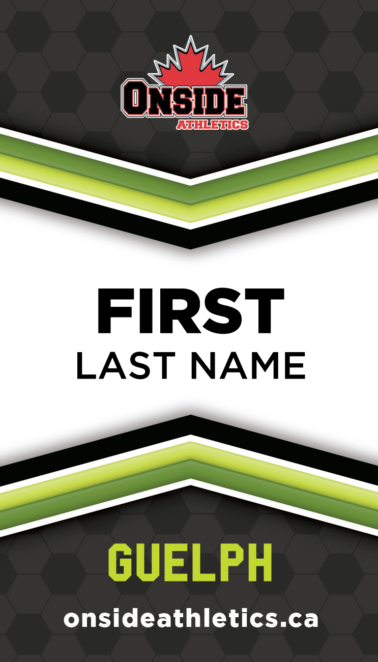 Lanyard Name Tag Design - A fresh and sporty design to breathe energy and professionalism into volunteers and staff assisting with children's sports camps and events.