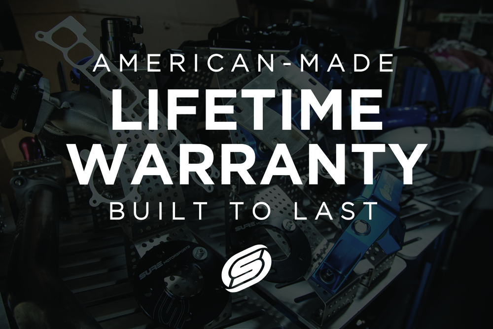 SURE Motorsports Lifetime Warranty   We are dedicated to designing products that are built to last a lifetime and enhance your Mazda experience.  All of our products, including polyurethane components, are backed by our  Lifetime Warranty .