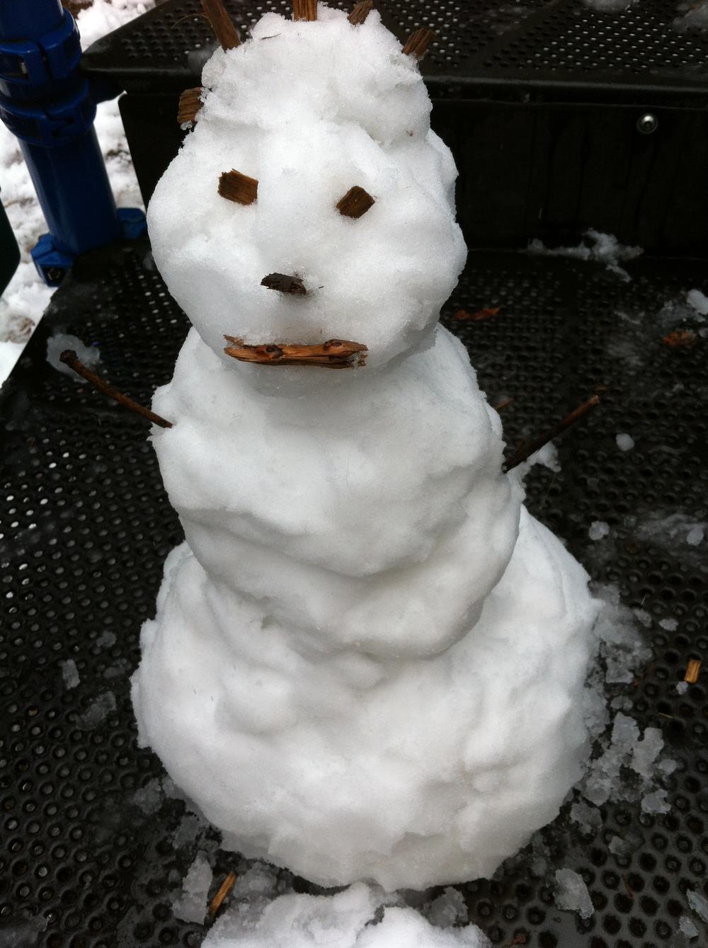 "Our ""snow princess."""