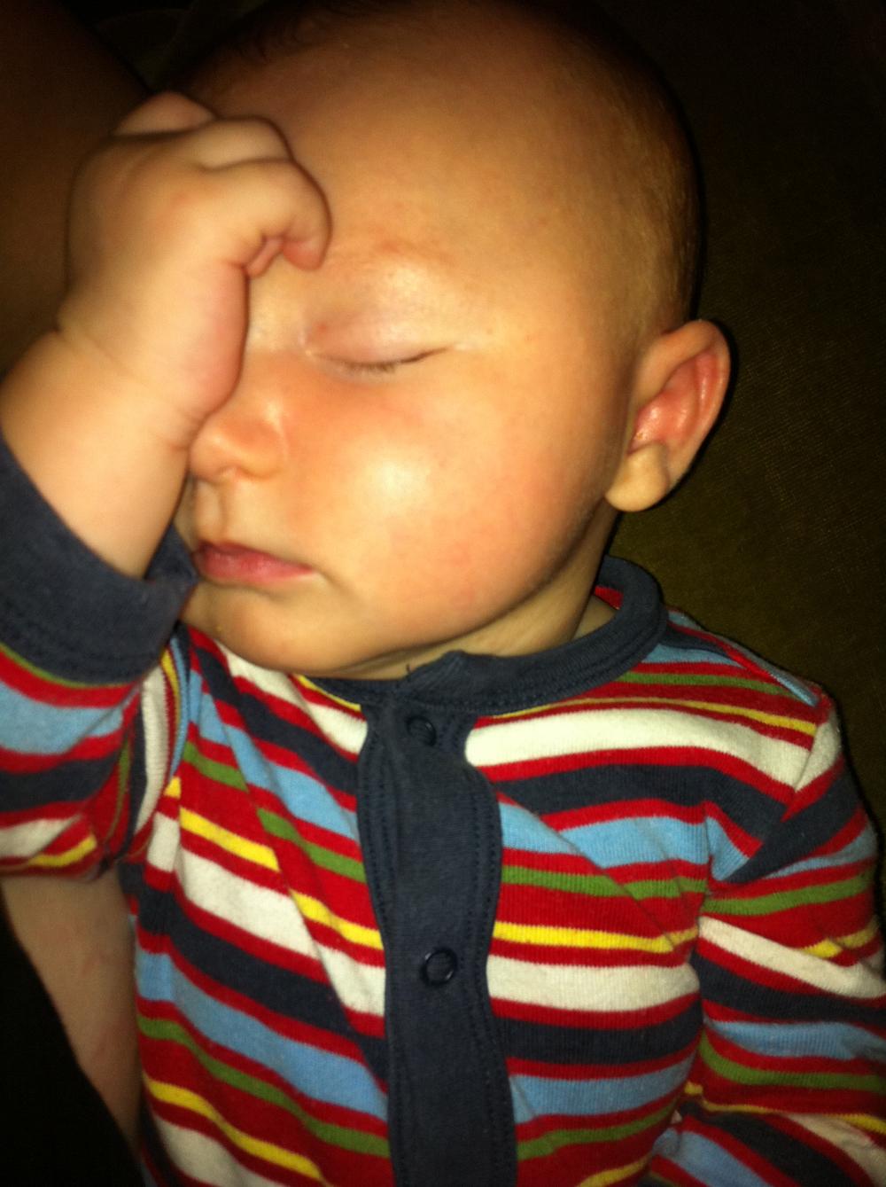Sleeping Baby, Exhausted Mama