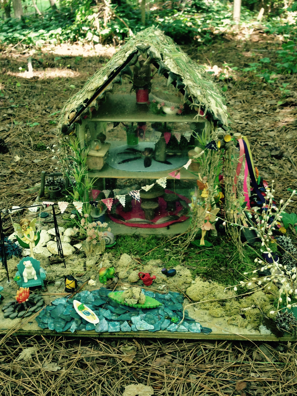 No, you do not have to build fairy houses together. But you could visit them. Or build them if that's your fun.