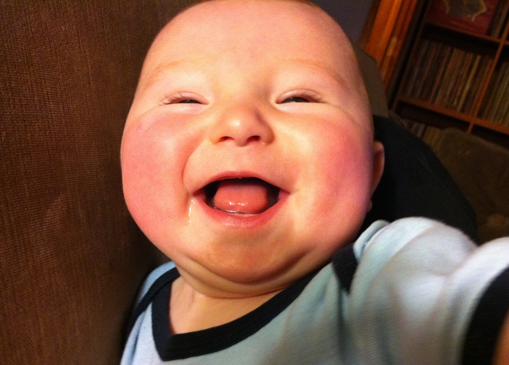 Happiest baby ever.