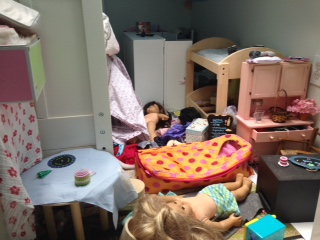 I have a daughter. If she's not cleaning her room, why would her dolls?