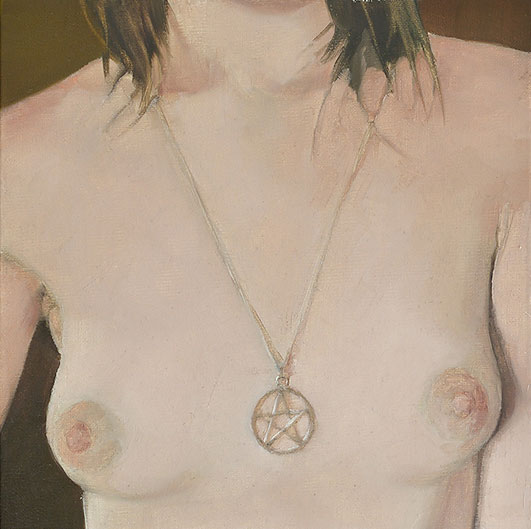Myth III: Protect and Survive  - John Brennan, 2011, oil on canvas, 20 x 20  x 4 cm