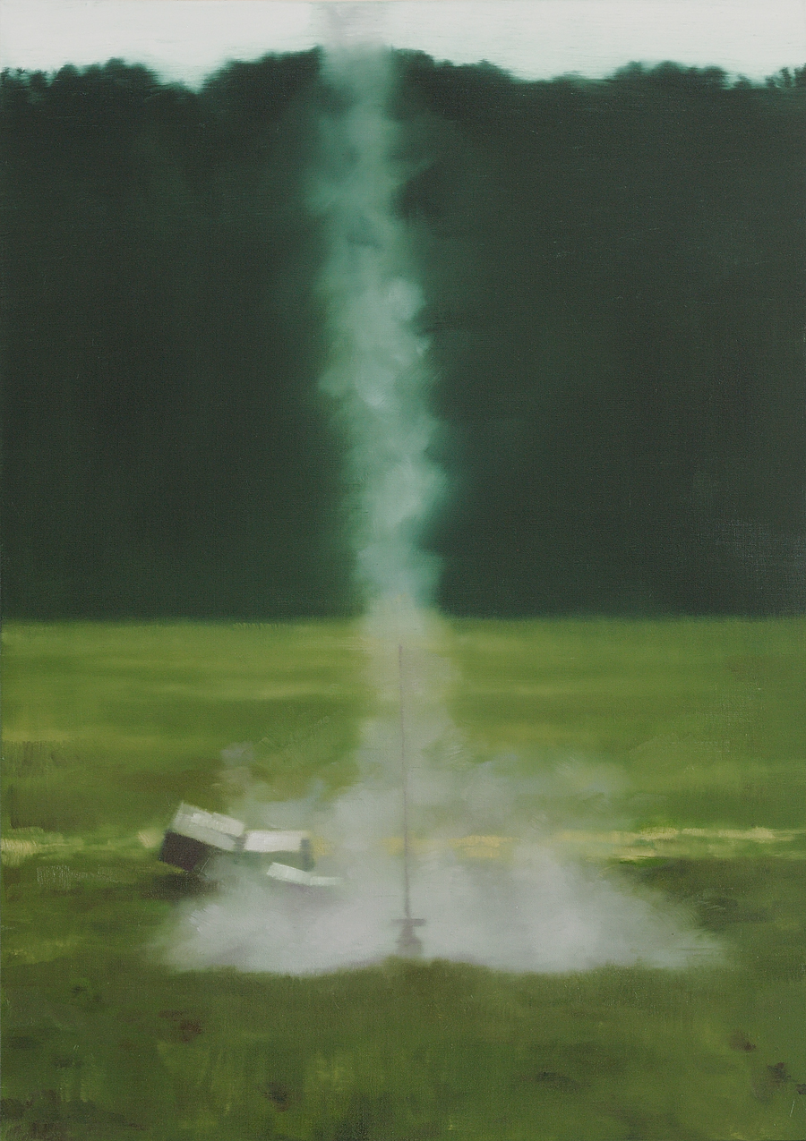 The Message  - John Brennan, 2013, oil on canvas, 70 x 50 x 4 cm