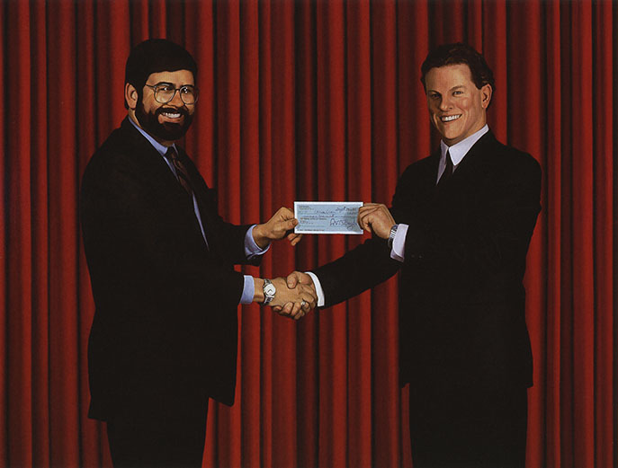 Self-Portrait Accepting A Cheque For The Commission Of This Painting