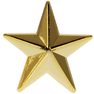 The gold star is worn by the top uniformed officer, known as the Police Chief or Chief of Police