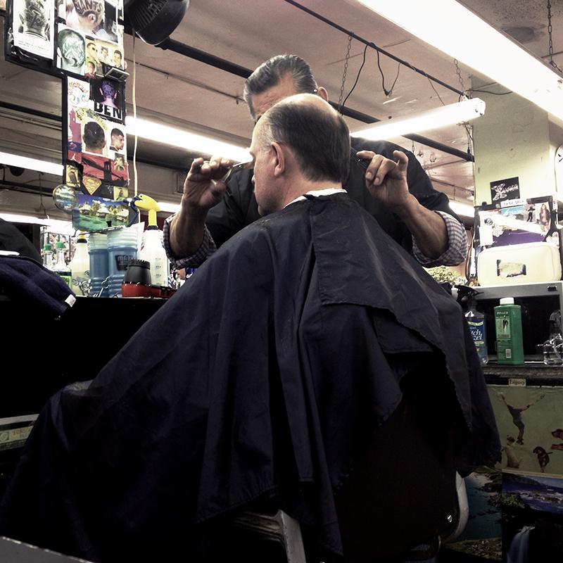 Dad's haircut - NYC