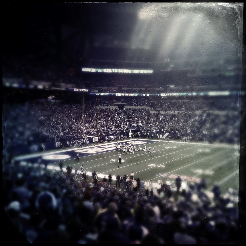 The first game of the season. September 7 against the Denver Broncos iPhone 4S - OlloClip Fisheye & Hipstamatic: Tinto 1884 Lens + C-Type Plate Film