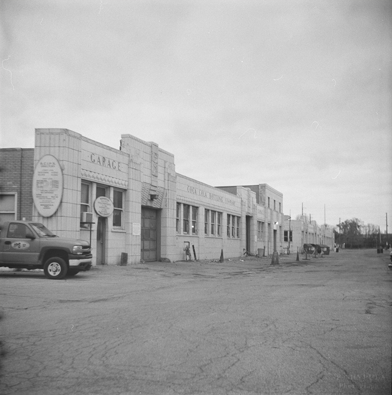 Former Coca-Cola Bottling Co. building on Mass Ave.  Lubitel 166B
