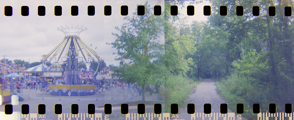 August - I visited the Indiana State Fair and took my first experimental shot using 35mm film in a camera designed for 120 film.