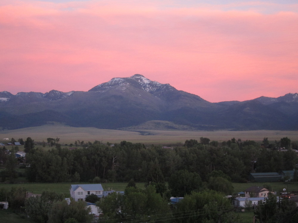 Sunset, Strawberry Mtns. View from Jimi's