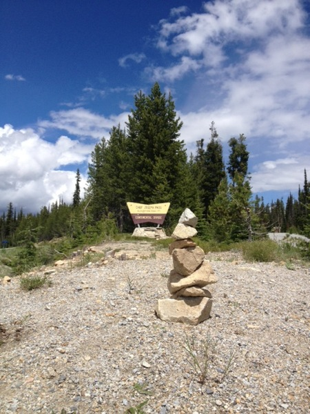The Continental Divide at Chief Joseph Pass. And, a Cairn! Like my business... !