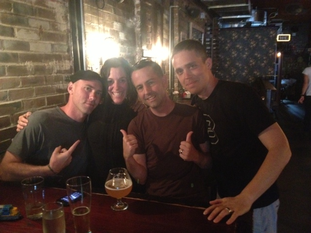 Nick, me, Chris and Cassady