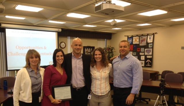 Kentucky Coordinated School Health Team: Vicki Greenwell, Jamie Sparks, Stephanie Bunge, Todd Davis