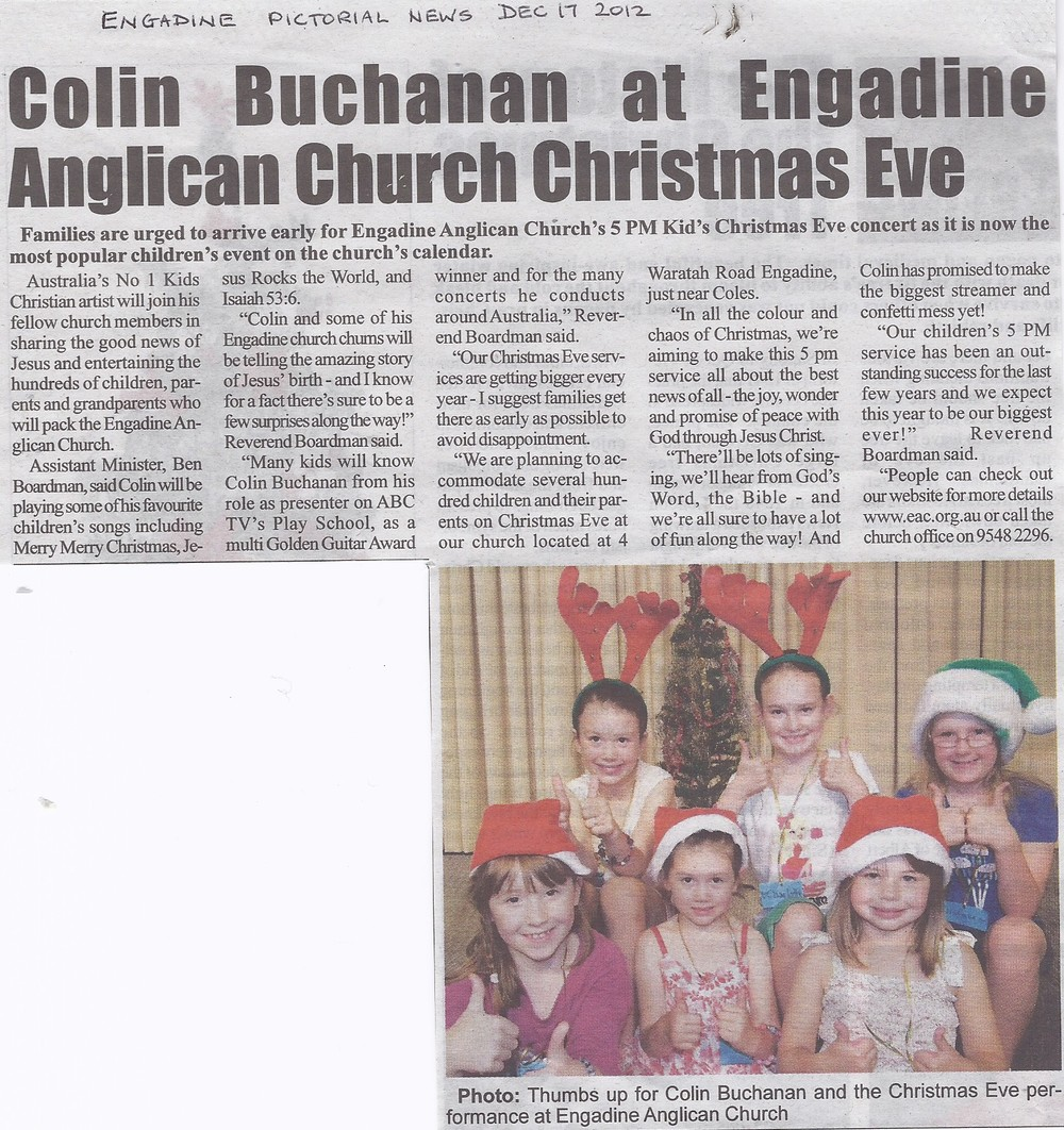 Christmas Eve Colin B Engadine Pictorial News 17 Dec 2012.jpg