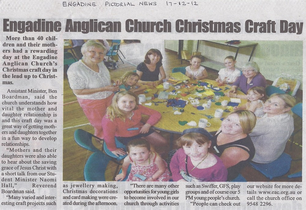 Christmas Craft day Engadine Pictorial News Dec 2012.jpg