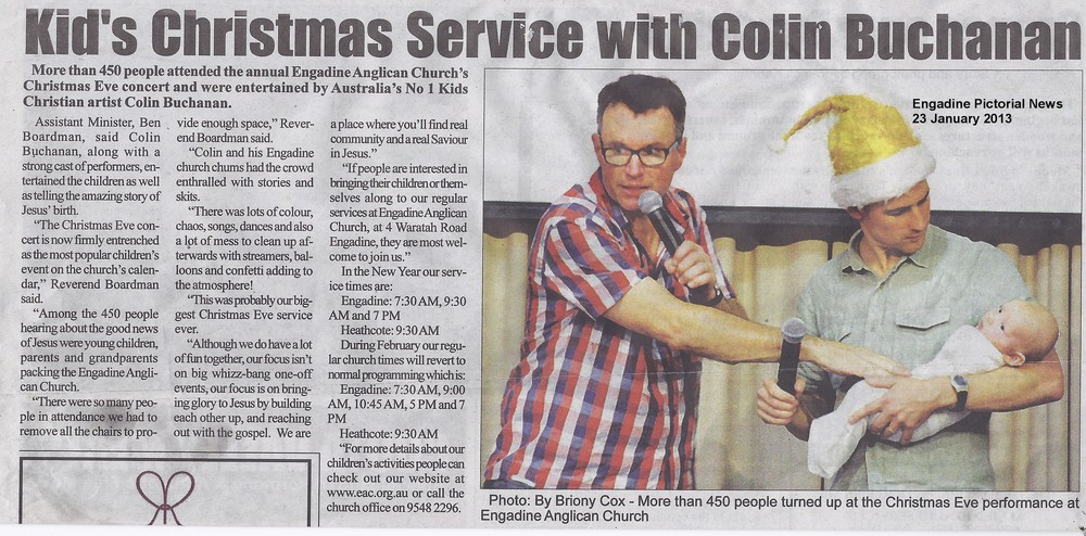 Kids Christmas Eve Service Engadine Pictorial News 23 January 2013.jpg