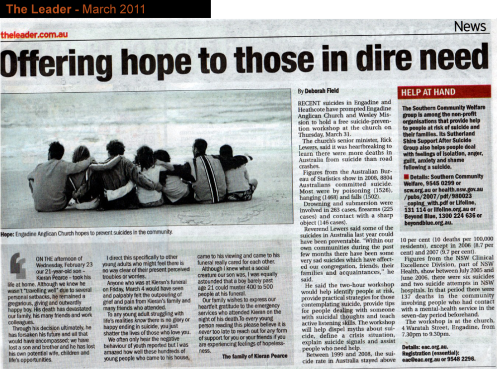 Leader_story_24 March_2011_Wesley_Suicide Prevention.png