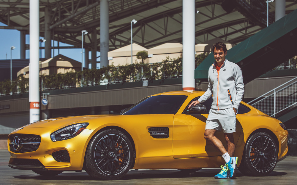 Mercedes benz roger federer us open shelby knick for Mercedes benz us open
