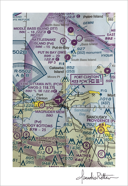 Lake Erie Islands, Ohio aeronautical chart.