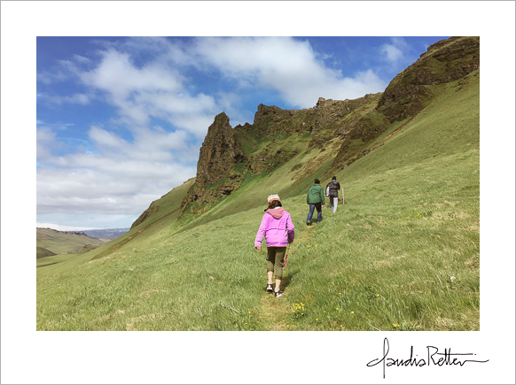Hiking in Vik, Iceland