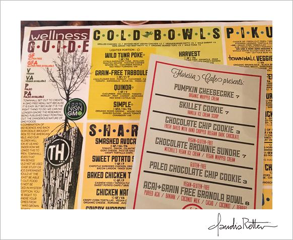 Townhall restaurant menu