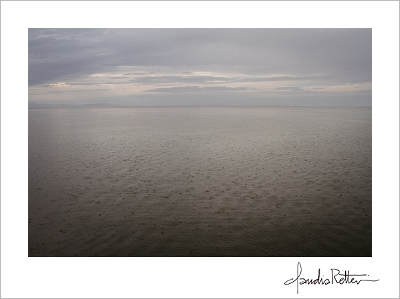 Great Salt Lake rain, Antelope Island State Park