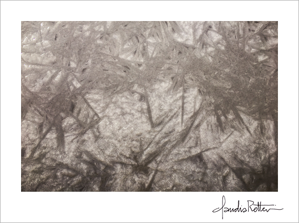 Ice patterns, frozen rive