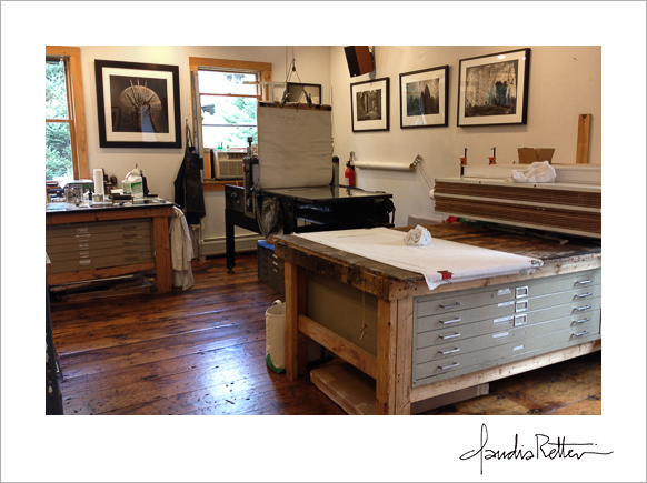 Renaissance Press printmaking studio