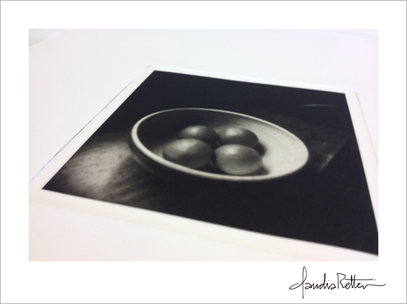 My finished gravure print
