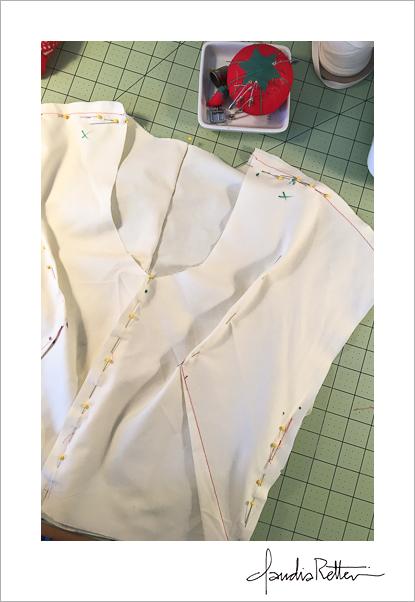 Sewing my muslin