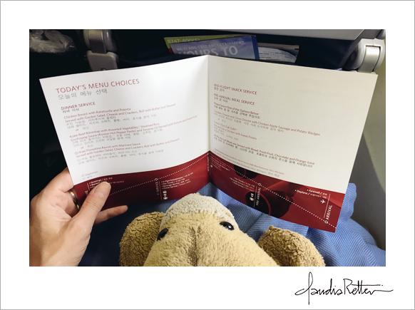 Airplane menu