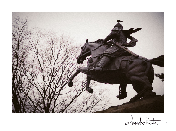 Statue on Ansan Mountain
