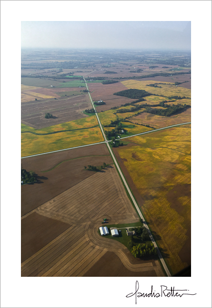 Aerial view of Ohio farmlands