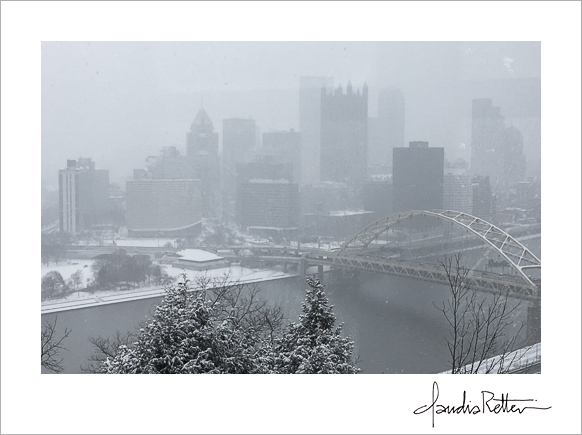 Pittsburgh snowscape