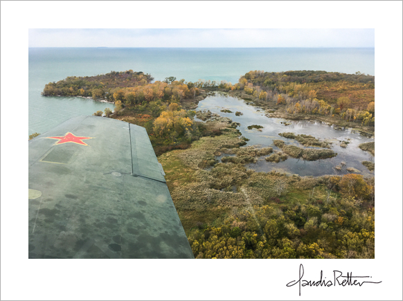 CJ6 over North Bass Island