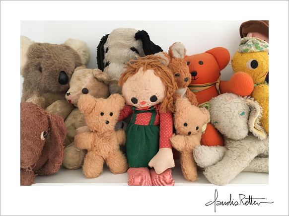 Stuffed animals on my shelf